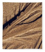 Ripples In The Sand Fleece Blanket