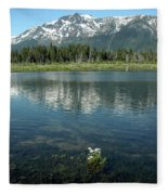 Ripples On Lake Of Mt Tallac Fleece Blanket