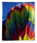 Rising Hot Air Balloons Fleece Blanket