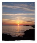 Rising Sun Fleece Blanket