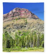 Rising Wolf Mountain Fleece Blanket