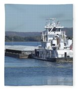 River Barge Fleece Blanket