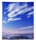 River Foyle, Co Derry, Northern Ireland Fleece Blanket