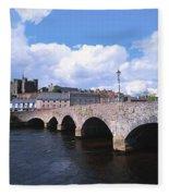 River Slaney, Enniscorthy, Co Wexford Fleece Blanket