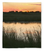 River Sunset Fleece Blanket