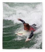 River Surfing Fleece Blanket