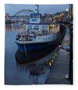 River Tyne Cruise Ship Fleece Blanket