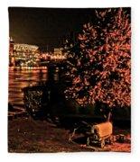 Riverfront 1865-2003 Tall Stacks  By Randall Branham Fleece Blanket