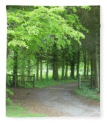 Road Into The Woods Fleece Blanket