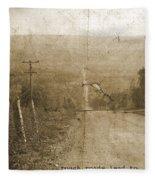 Road Not Traveled  Fleece Blanket