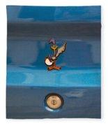 Road Runner Bird Emblem Fleece Blanket