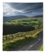 Road Through Glenelly Valley, County Fleece Blanket