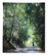 Road To Apple Hill Fleece Blanket