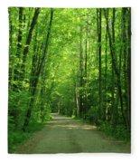 Road To Jasper Woods Fleece Blanket