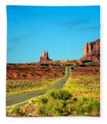 Road To Paradise Fleece Blanket