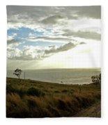 Road To The Ocean Fleece Blanket
