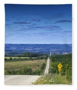 Road To The Valley Fleece Blanket