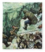 Roald Amundsen's Journey To The South Pole Fleece Blanket