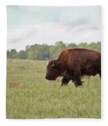 Roaming The Plains Fleece Blanket
