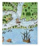 Roanoke Landing, 1585 Fleece Blanket