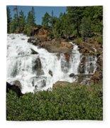 Roaring Falls Glen Alpine Falls Fleece Blanket