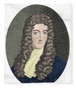Robert Boyle, British Chemist Fleece Blanket