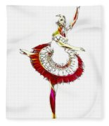 Robot Ballerina Fleece Blanket