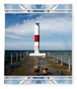 Rochester New York Harbor Lighthouse Fleece Blanket