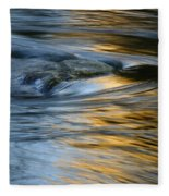 Rock And Blue Gold Water Fleece Blanket