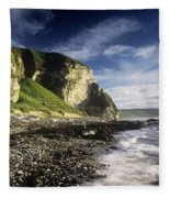 Rock Formations At The Coast Fleece Blanket