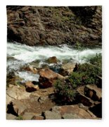 Rock Steps To Glen Alpine Creek Fleece Blanket