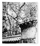 Rockefeller Garden Fence Fleece Blanket