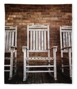 Rocking Chairs Fleece Blanket