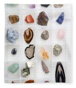 Rocks And Minerals Fleece Blanket