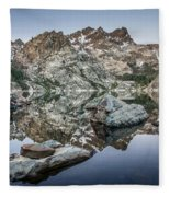 Rocks And Reflections Fleece Blanket