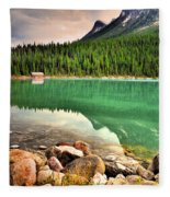 Rocks And Reflections Fleece Blanket