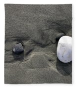 Rocks And Sand  Fleece Blanket