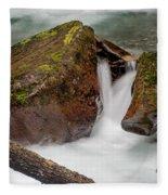 Rocks Of Avalanche Gorge Fleece Blanket