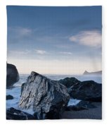 Rocks Of Dry Lagoon Fleece Blanket