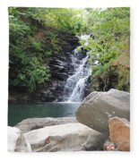 Rocks Of The Falls Fleece Blanket