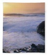 Rocks On The Beach, Giants Causeway Fleece Blanket
