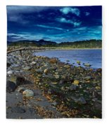 Rocky Beach In Western Canada Fleece Blanket