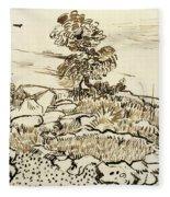 Rocky Ground At Montmajour Fleece Blanket