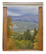 Rocky Mountain Picture Window Scenic View Fleece Blanket