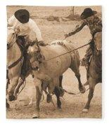 Rodeo Action Fleece Blanket