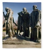 Rodin: Burghers Of Calais Fleece Blanket