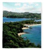 Rodney Bay St. Lucia Fleece Blanket