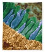 Rods And Cones In Retina Fleece Blanket