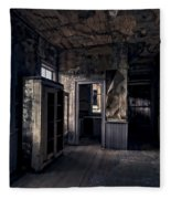 Roe - Graves House Kitchen Of Bannack Ghost Town - Montana Fleece Blanket