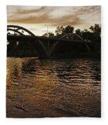Rogue River Sunset Fleece Blanket